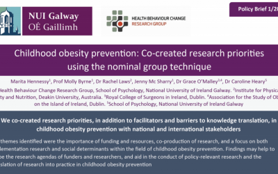 Policy Brief – Childhood obesity prevention: Co-created research priorities using the nominal group technique